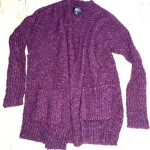 Mossimo | Soft Knit Purple Cardigan